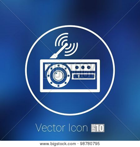 radio icon vector station symbol fm antenna