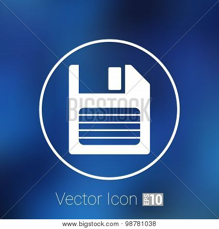 disk vector old icon floppy save record media sign