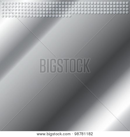 Silver Gray Emboss Metallic Circle Background