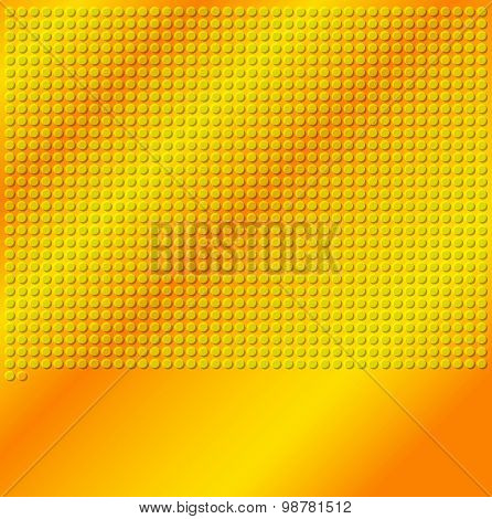Yellow Gold Emboss Metallic Circle Background