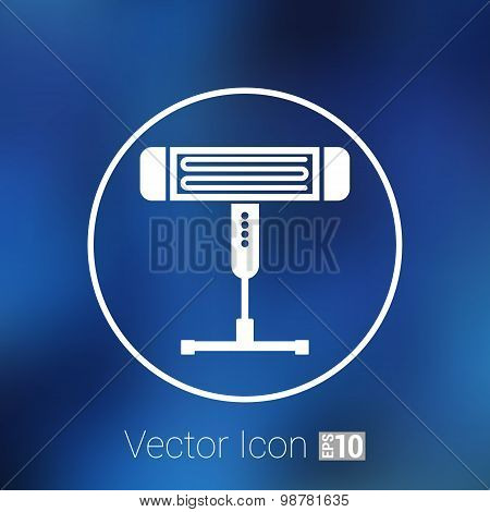 Electric heater vector illustration light icon energy