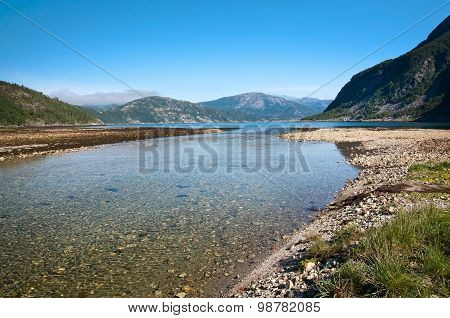 River estuary by fiord