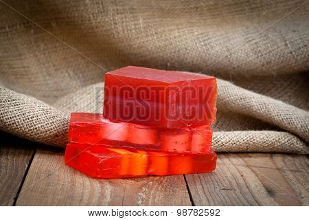 Red Soap Bars