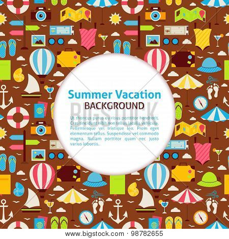Flat Vector Pattern Summer Vacation Background