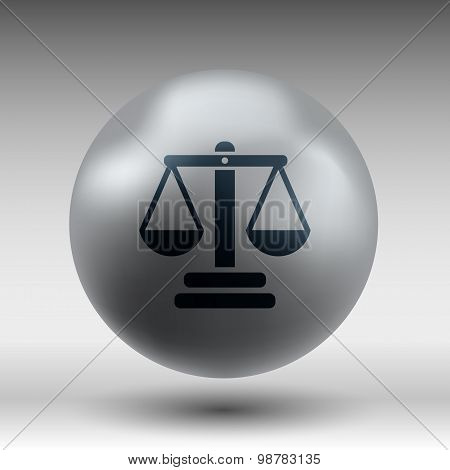 justice vector icon symbol measurement balance