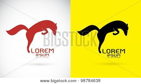 Vector Image Of An Fox On White Background And Yellow Background, Logo, Symbol