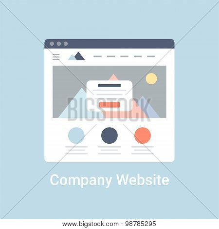 Company Website Wireframe