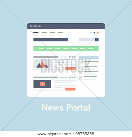 News Portal Wireframe