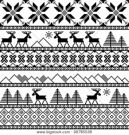Traditional Christmas Knitted Ornamental Pattern