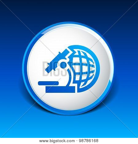 microscope icon scientist virus isolated graphic technology