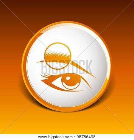 Human eye vector isolated eyebrow female makeup beauty eyesight
