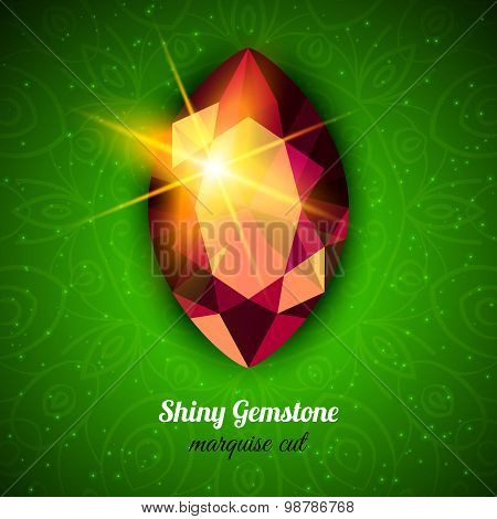 Gemstone On Dark Background