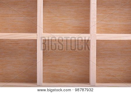 Empty Wood Brown Shelves Background