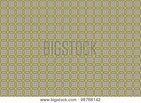 Seamless square pattern ocher gray