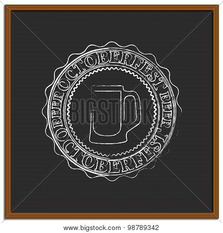 Emblem Oktoberfest, Vector Illustration.
