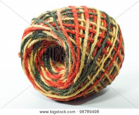 colorful roll of hemp rope