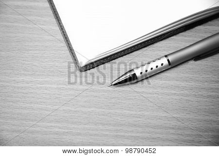 Book And Pen Black And White Color Tone Style
