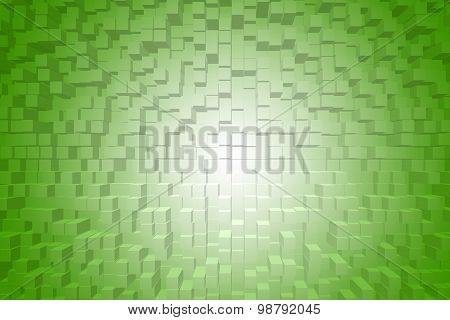 Extrude Green Gradient Abstract Background