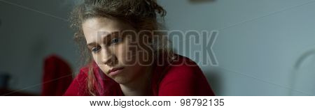 Young Woman With Major Depression