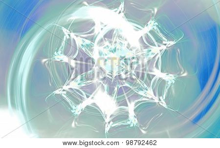 Winter flower similar to blizzard. Fractal art graphics