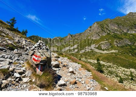Trail In Mountain - Adamello Trento Italy