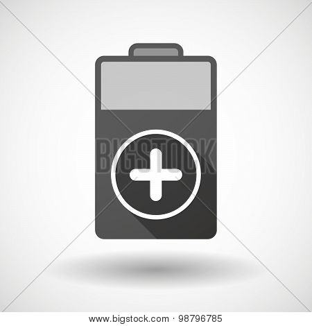 Isolated Battery Icon With A Sum Sign