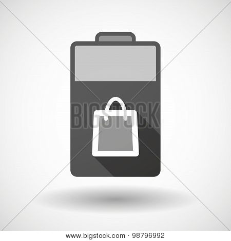 Isolated Battery Icon With A Shopping Bag