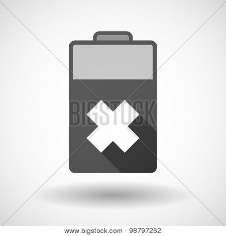 Isolated Battery Icon With An Irritating Substance Sign