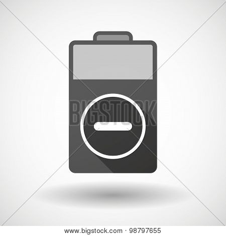 Isolated Battery Icon With A Subtraction Sign