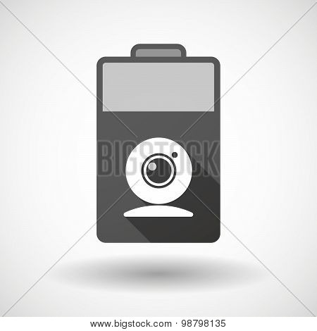 Isolated Battery Icon With A Web Cam