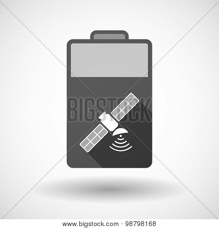 Isolated Battery Icon With A Satellite