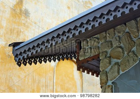 Architectural Details Of   Wooden Log Hut.