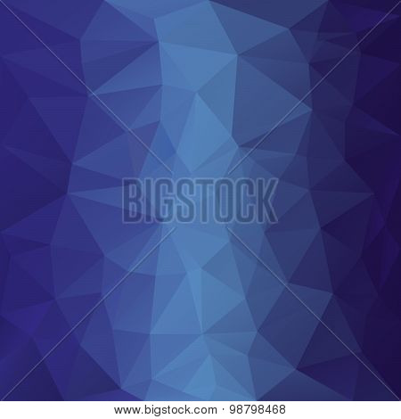 Vector Polygonal Background With Pattern - Triangular Design In Blue Colors