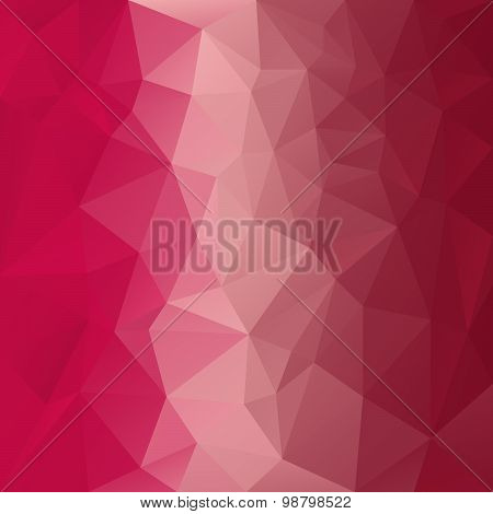 Vector Polygonal Background With Pattern - Triangular Design In Red Colors -