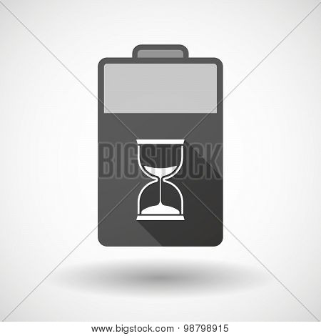 Isolated Battery Icon With A Sand Clock
