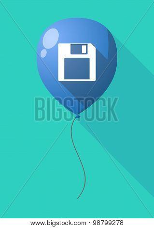 Long Shadow Balloon With A Floppy Disk