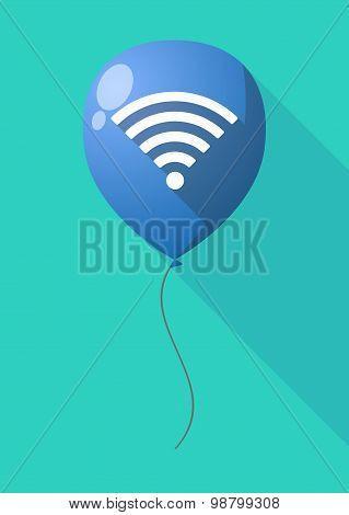 Long Shadow Balloon With A Radio Signal Sign