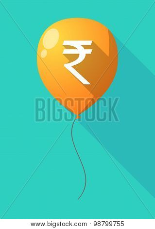 Long Shadow Balloon With A Rupee Sign