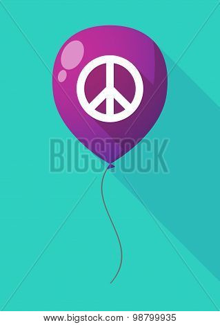 Long Shadow Balloon With A Peace Sign