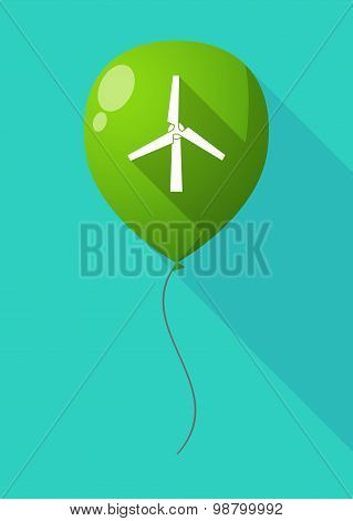 Long Shadow Balloon With A Wind Generator