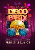 Постер, плакат: Disco Background Disco Party Poster