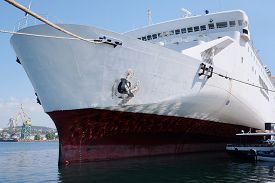 stock photo of passenger ship  - The image of a passenger ship - JPG