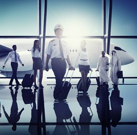 pic of cabin crew  - Airport Pilot Cabin Crew Professional Occupation Concept - JPG