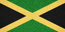 foto of jamaican flag  - flag of Jamaica or Jamaican symbol on abstract background - JPG
