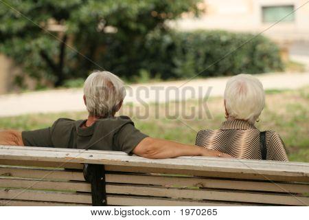 Relaxing Senior Friends