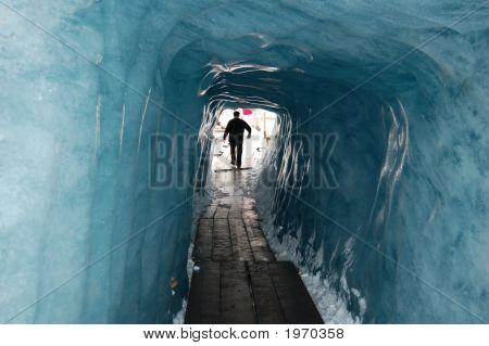 Inside The Rhone Glacier