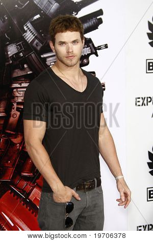 "LOS ANGELES - AUGUST 3:  Kellan Lutz arrives at ""The Expendables"" LA Premiere at Grauman's Chinese Theater on August 3, 2010 in Los Angeles, CA"