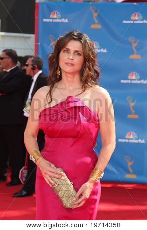 LOS ANGELES - AUG 29:  Julia Ormond arrives at the 2010 Emmy Awards at Nokia Theater at LA Live on August 29, 2010 in Los Angeles, CA