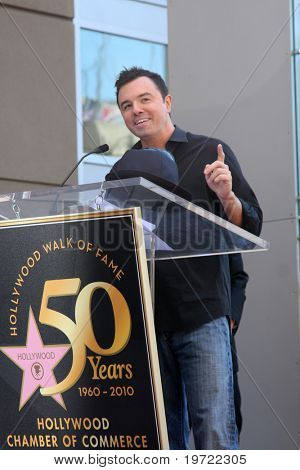 LOS ANGELES - SEP 14:  Seth MacFarlane at the Bill Maher Hollywood Walk of Fame Star Ceremony at Hollywood Walk of Fame on September 14, 2010 in Los Angeles, CA