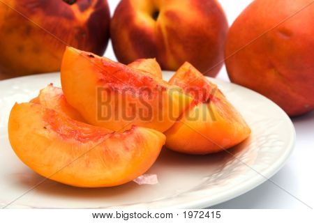 Sliced Nectarines